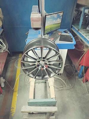 轮毂激光打标